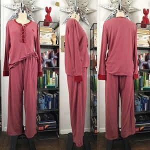 LRL Striped Pajama Set Polo Ralph Lauren Embroider